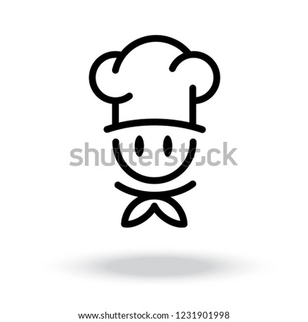 Chef Cooking Hat Vector Icon Stock Vector (Royalty Free) 1231901998 ... e61b651d1bfb