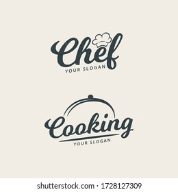 Chef and cooking logo template premium