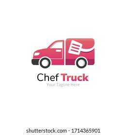 Chef Delivery Truck Logo Design