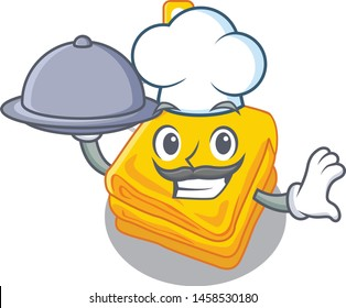 Chef with food electric blankets stored in mascot cupboard