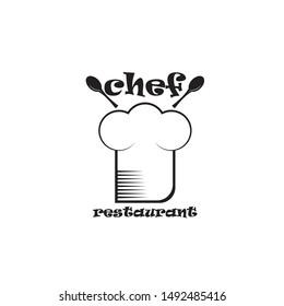 Chef hat icon logo template