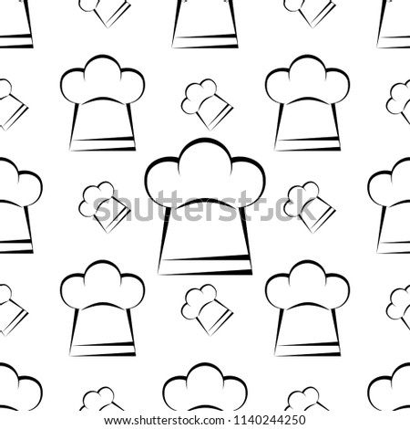 c03b70810a0 Chef Hat Icon Seamless Pattern Chef Stock Vector (Royalty Free ...