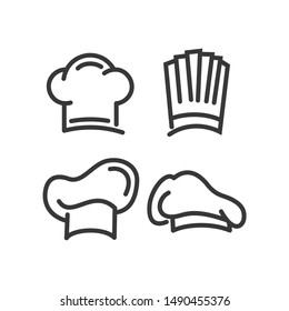 Chef Hat Icon template color editable. Kitchen simple icons. Bakery Chef symbol vector sign isolated on white background. Simple logo vector illustration for graphic and web design.