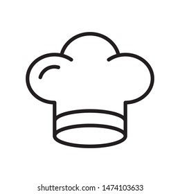 Chef hat icon in trendy outline style design. Vector graphic illustration. Suitable for website design, logo, app, template, and ui. Editable vector stroke. EPS 10.