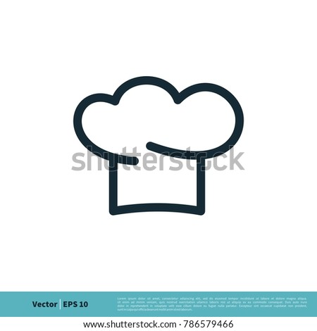 chef hat icon vector logo template stock vector royalty free