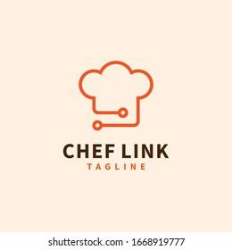 Chef hat logo design vector