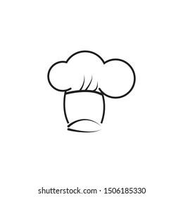 Chef hat logo template vector icon