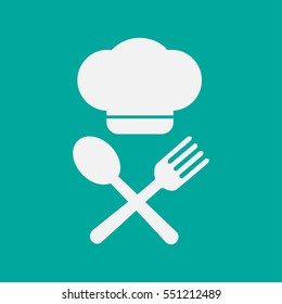 Chef hat . Menu card. Vector illustration.