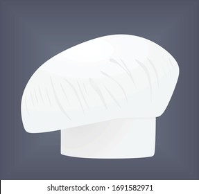 Chef hat on grey background. vector illustration