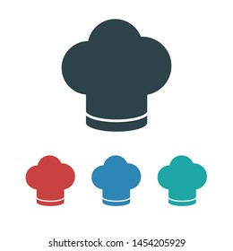 Chef hat vector icon. Cooking hat illustration vector icon. Kitchen logo. Culinary chef icon. Design web icon