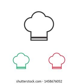 Chef hat vector icon. Cooking hat illustration vector icon. Kitchen logo. Culinary chef icon. Design web icon