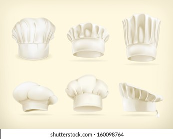 Chef hats vector set