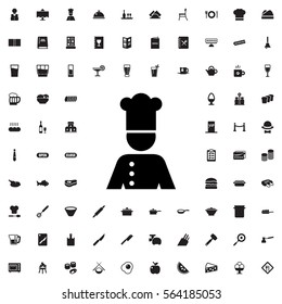 chef icon illustration isolated vector sign symbol