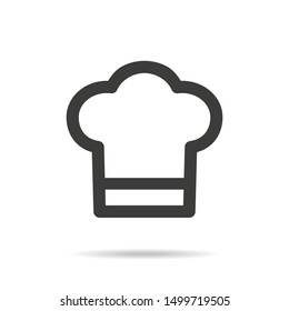 Chef icon on white background.