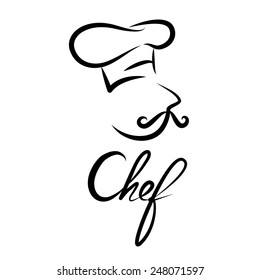 chef logo images stock photos vectors shutterstock https www shutterstock com image vector chef icon symbol logo design vector 248071597