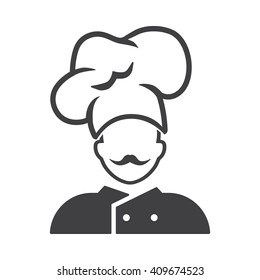 Chef icon Vector Illustration on the white background.