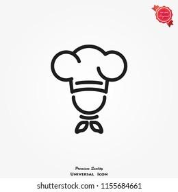 Chef icon vector. Kitchen simple sign symbol.