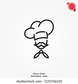 Chef icon vector. Kitchen simple sign symbol.