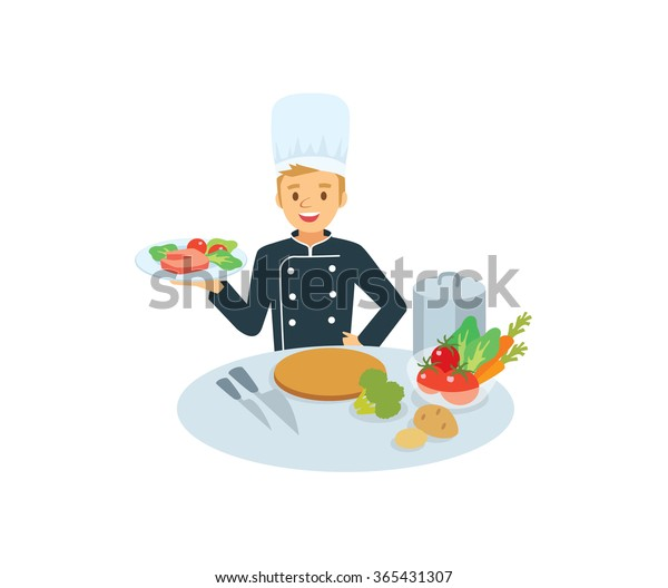 Chef Kitchen Appliances Food Stock Vector (Royalty Free ...