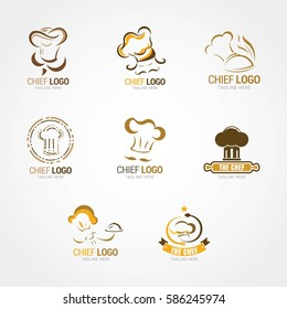 Chef Logo Design Template. Vector Illustration
