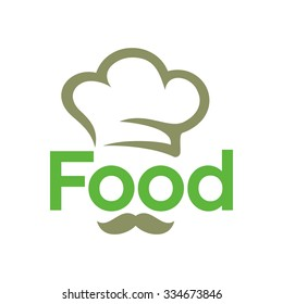 chef logo. restaurant symbol. vector icon. food logotype.