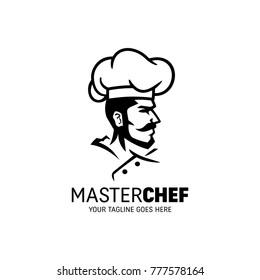Chef man character logo vector