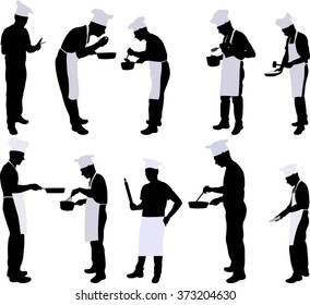 Chef silhouette collection - vector