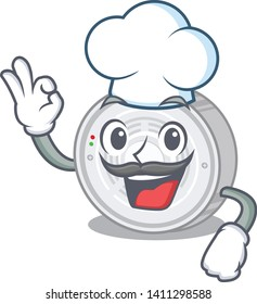 Chef smoke detector isolated with the mascot