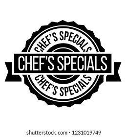 chef specials stamp on white background. Sign, label, sticker.