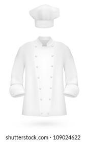 Chef Uniform Shirt And Hat