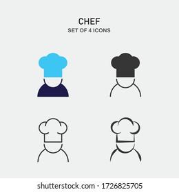 chef vector icon restuarant serving