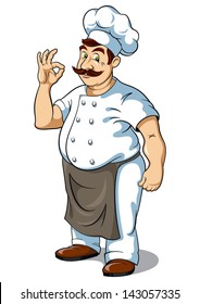 Chef, vector illustration