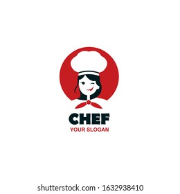 chef woman design isolated on white background