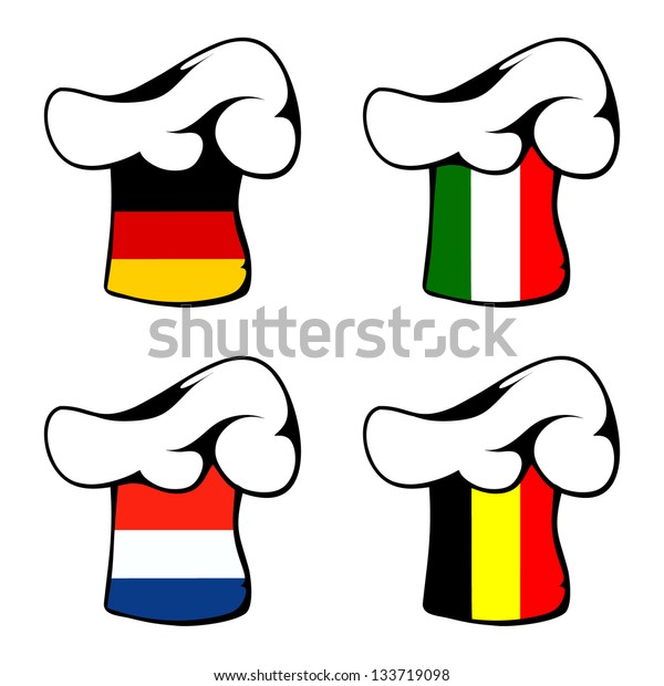 Chef's hat, Germany, Italy, the Netherlands, Belgium