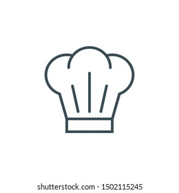 chef's hat icon in flat style isolated. Vector Symbol illustration.