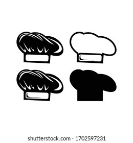 a chef's hat icon vector design