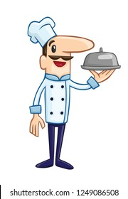 Chefs in restaurant kitchen cooking. Cute cooks in uniform preparing food in dining or hotel, Professional master, view other chef vectors in our page, cartoon characters