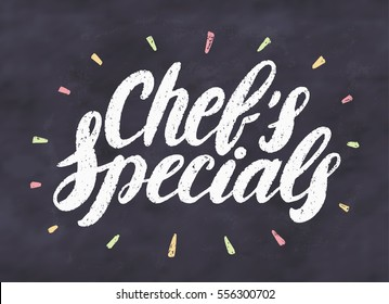 Chef's specials. Chalkboard sign.
