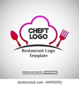 Cheft Logo template.  Can use for Restaurant and Food Company. Vector Eps.10