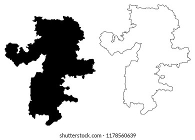 Chelyabinsk Oblast (Russia, Subjects of the Russian Federation, Oblasts of Russia) map vector illustration, scribble sketch Chelyabinsk Oblast map