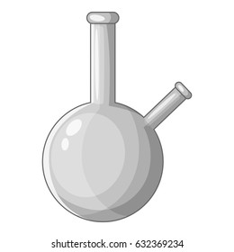 Chemical beaker icon in monochrome style isolated on white background vector illustration