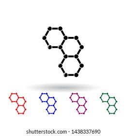 chemical cells multi color icon. Elements of science set. Simple icon for websites, web design, mobile app, info graphics