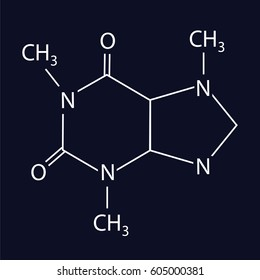The chemical formula of caffeine