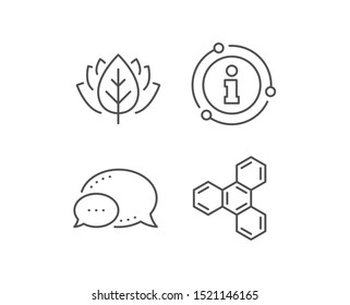 Chemical formula line icon. Chat bubble, info sign elements. Chemistry lab sign. Analysis symbol. Linear chemical formula outline icon. Information bubble. Vector
