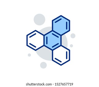 Chemical formula line icon. Chemistry lab sign. Analysis symbol. Linear design sign. Colorful chemical formula icon. Vector