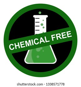 Chemical free sign
