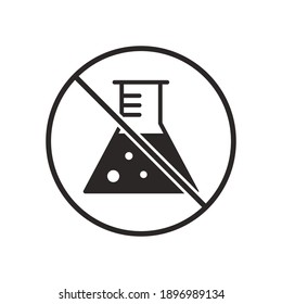 chemical free sign icon, vector illustration