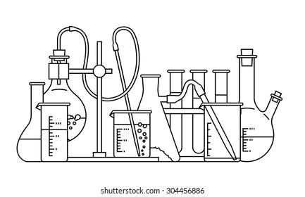 chemical glassware icon. The test tube beaker flask