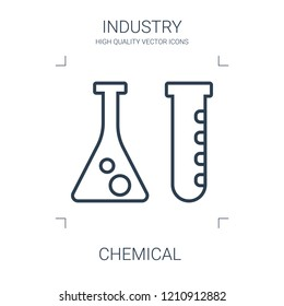 chemical icon. high quality line chemical icon on white background. from industry collection flat trendy vector chemical symbol. use for web and mobile
