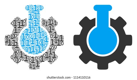 Chemical industry composition icon of zero and null digits in different sizes. Vector digital symbols are composed into chemical industry mosaic design concept.